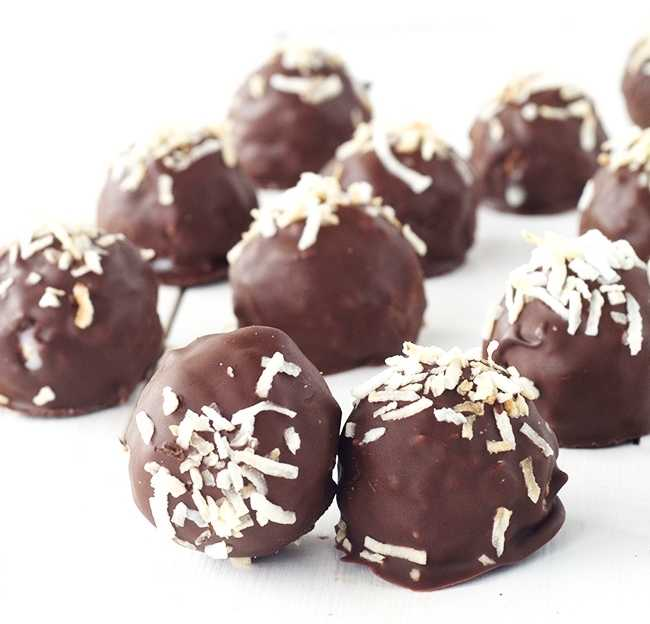 chocolate coconut truffles recipe