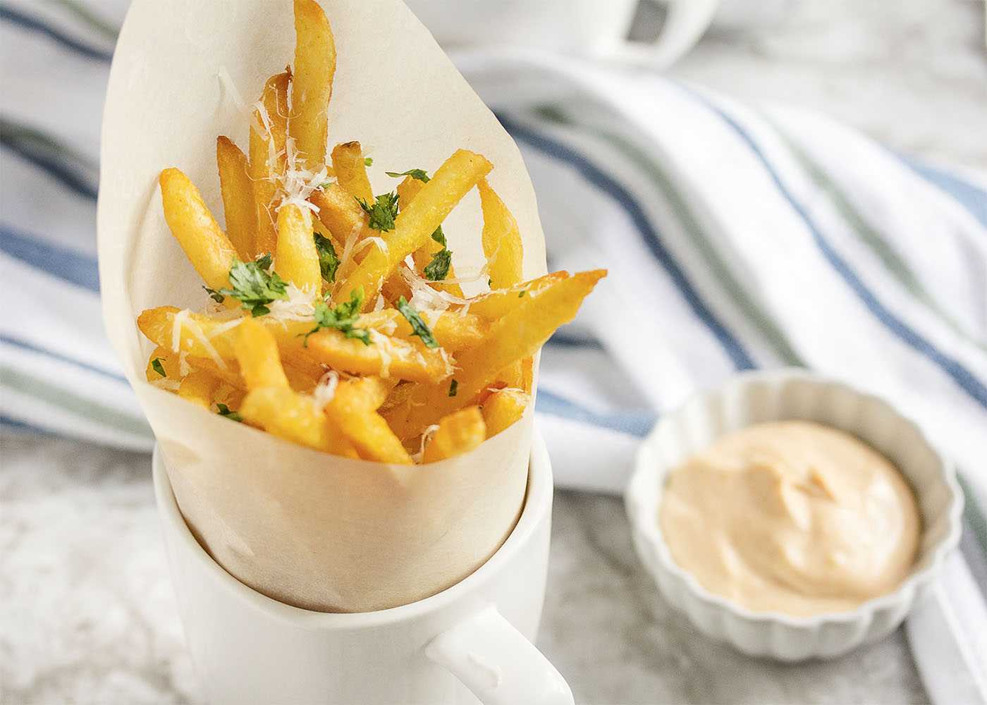 truffle fries with oil