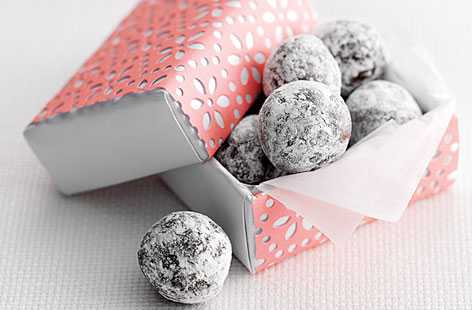 orange chocolate truffles