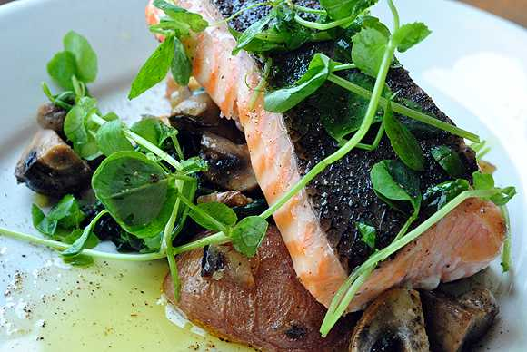 Salmon with Truffle Oil