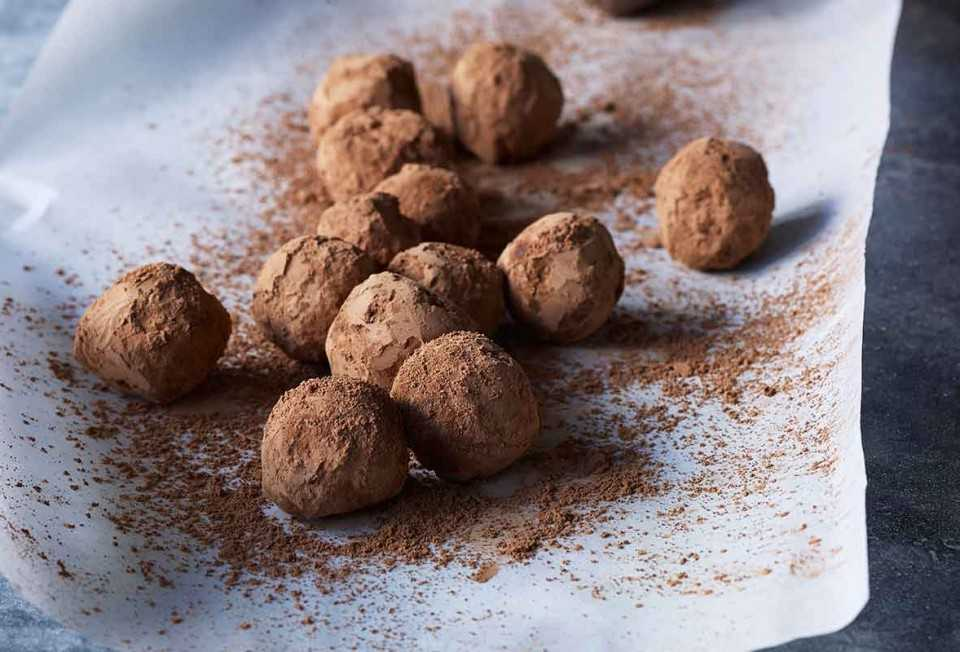 truffles made with cocoa powder