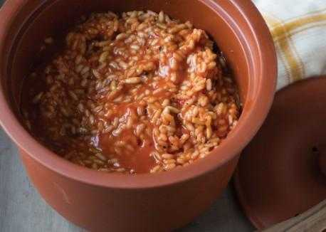 Tomato Risotto with Pine Nuts