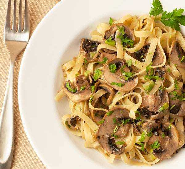 Truffled Fettuccine with Mushrooms