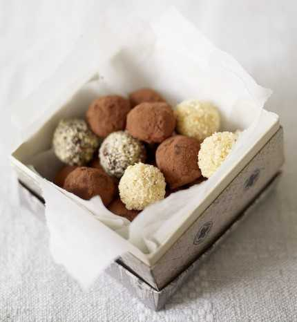 recipe for white chocolate truffles